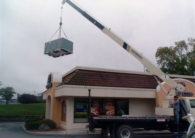 Taco Bell Roof Top Install